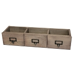 3 Drawer Set -Weathered Wood