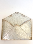 Metal Envelope 9x10 -White/Silver
