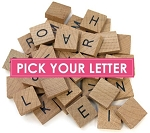 Alphabet Tiles - Pick your letter (Bulk)
