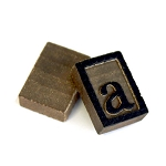Wooden Letter Press - 10 letter A's