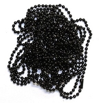 Ball Chain Necklaces, 2mm Black