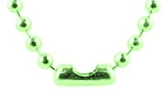 Ball Chain Necklaces, 2.4mm Lime Green