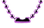 Ball Chain Necklaces, 2.4mm Purple