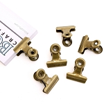 Bull Clips -22 mm Antique Gold 6pc