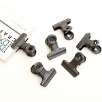 Bull Clips -22 mm Antique Silver 6pc