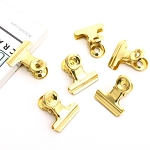 Bull Clips -22 mm Bright Gold 6pc