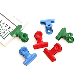 Bull Clips -22 mm Color Mix 6pc
