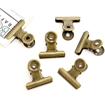 Bull Clips -31 mm Antique Gold 6pc