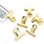 Bull Clips -31 mm Bright Gold 6pc