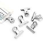 Bull Clips -31 mm Bright Silver 6pc