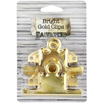 Screw On Clips -75mm Bright Gold 2pc