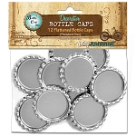 12 Chrome Flattened Standard Bottle Caps