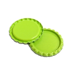 2 Sided Lime Green Bottle Caps Flattened