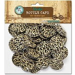 50 Cheetah Print Bottle Caps