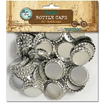 50 Chrome Standard Bottle Caps