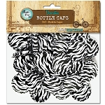 50 Zebra Print Standard Bottle Caps