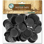 50 Black Standard Bottle Caps