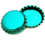 Two Sided Metallic Turquoise Bottle Caps