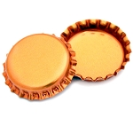 Two Sided Metallic Orange Bottle Caps
