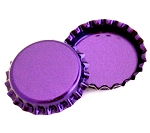 Two Sided Metallic Purple Bottle Caps