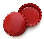 Two Sided Red Bottle Caps