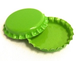 Two Sided Lime Green Bottle Caps