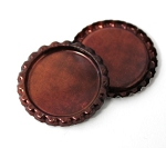 Two Sided Red Copper Patina Bottle Caps Flattened
