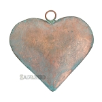 Metal Heart 4x4 -Copper Patina
