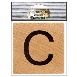 C- 2 inch Wood Alphabet Tile