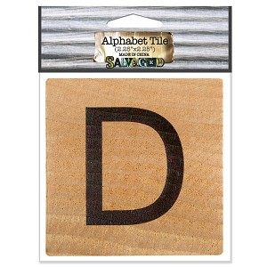 D- 2 inch Wood Alphabet Tile