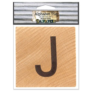 J- 2 inch Wood Alphabet Tile
