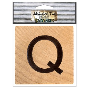Q- 2 inch Wood Alphabet Tile