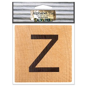 Z- 2 inch Wood Alphabet Tile
