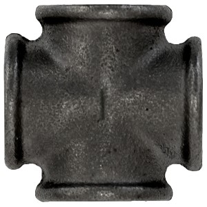 "1"" Industrial Black Pipe Décor- Cross Fitting"