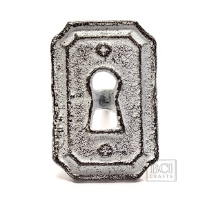 Antique White Knob, Lock
