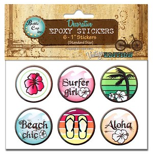 Epoxy Stickers, Surfer Girl