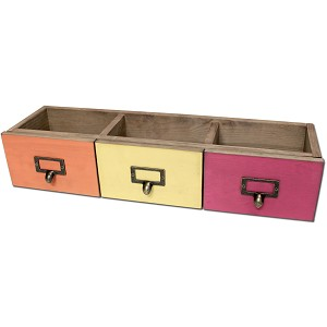 3 Drawer Set -Red/Orange/Yellow