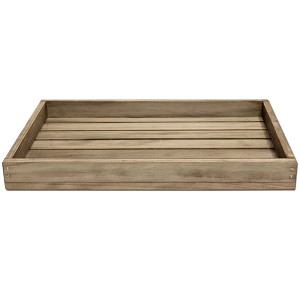 Small Wood Tray -Weathered Wood