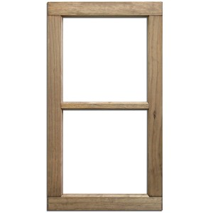 "2 Pane Wood Window Weathered Wood -14""x28"""