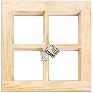"Wood Window Frame -Natural 16""X16"""