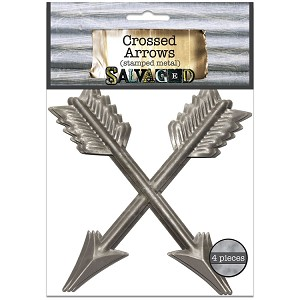 Metal Crossed Arrows 4x4 -Cut and Formed 4pc