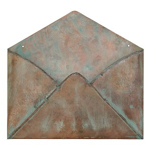 Metal Envelope 9x10 -Copper Patina