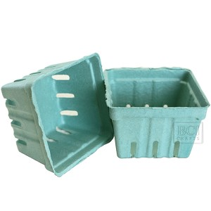 Berry Baskets -Teal 10pc