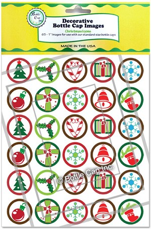 Christmas Icons in Green and Yellow Packaging