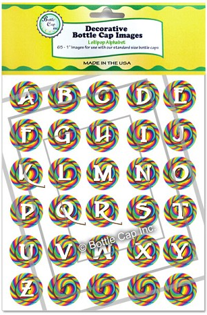 Lollipop Alphabet in Green and Yellow Packaging