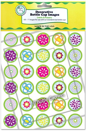 Swirls and Flowers in Green and Yellow Packaging