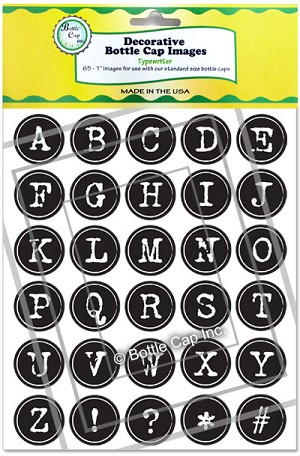 Typewriter Alphabet in Green and Yellow Packaging