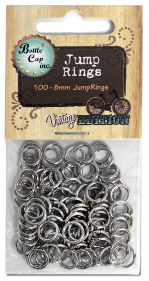 Jump Rings 8mm - Silver, 100