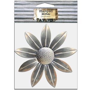 Metal Sunflower 6.5x6.5 -Cut and Formed 1pc