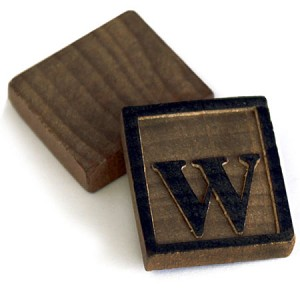 Wooden Letter Press - 10 letter W's